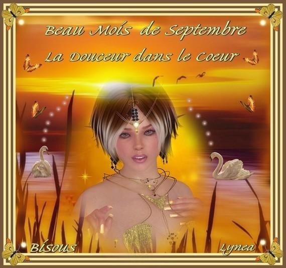 Beau mois de Septembre---la Douceur dans le Coeur---Bisous de Lynea