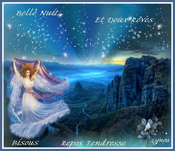 Belle Nuit-Bisous-Repos Tendresse de Lynea