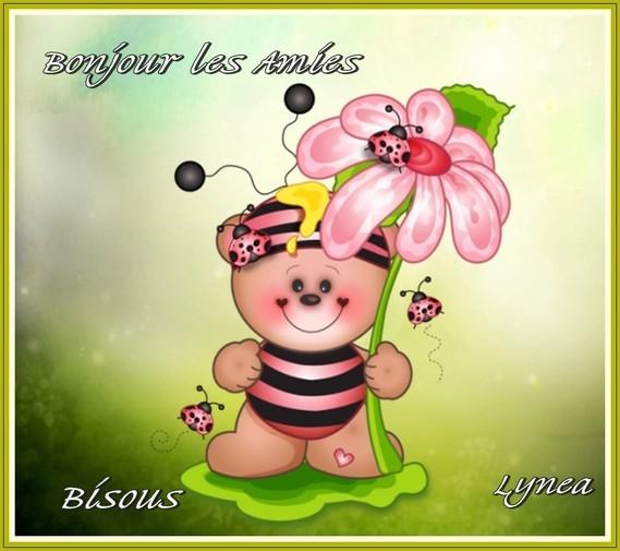 Bonjour les amies-Bisous de Lynea