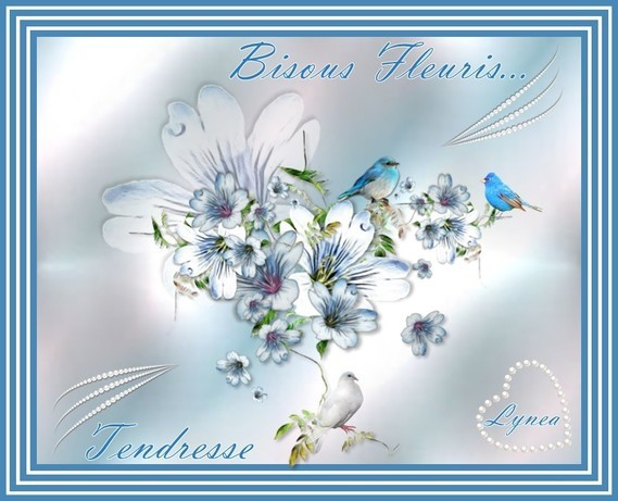 Bisous fleuris---tendresse de Lynea