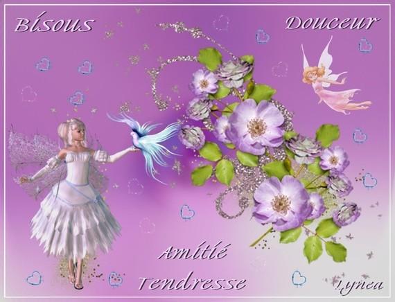 Bisous Douceur-Amitié-Tendresse de Lynea