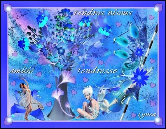 Bisous tendres--tendresse-amitié-bisous de Lynea
