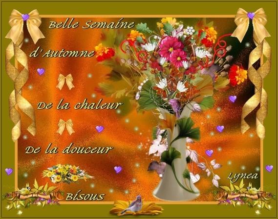 Belle Semaine d'automne-chaleur-douceur- bisous de Lynea