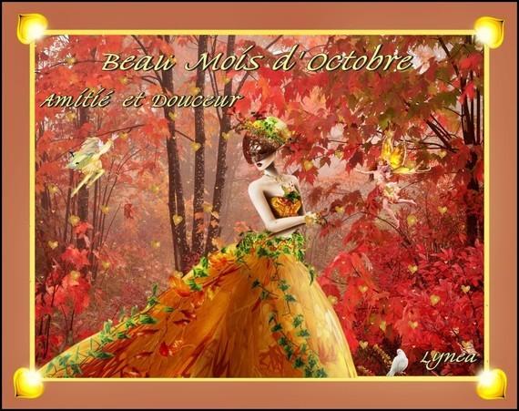 Octobre- Amitié et douceur-Bisous de Lynea