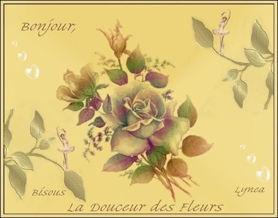 bonjour avec des fleurs-Bisous de Lynea