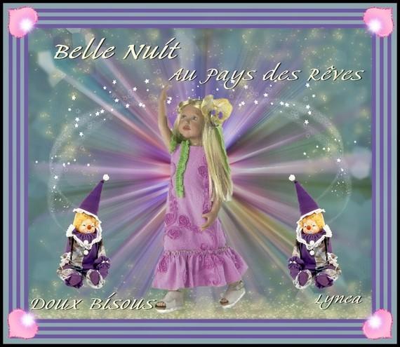 Belle Nuit-Au Pays des Rêves-Doux Bisous de Lynea