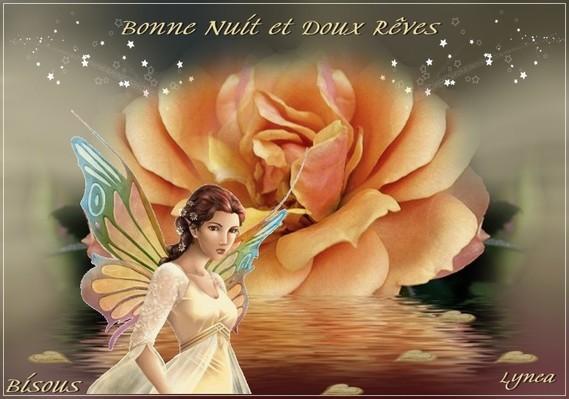 Bonne nuit et Doux Rêves-La Rose-Bisous de Lynea