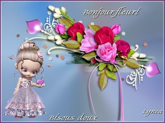 Bonjour fleuri-Bisous doux de Lynea