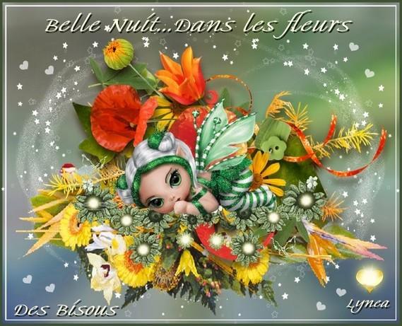 Belle nuit dans les fleurs-des bisous de Lynea