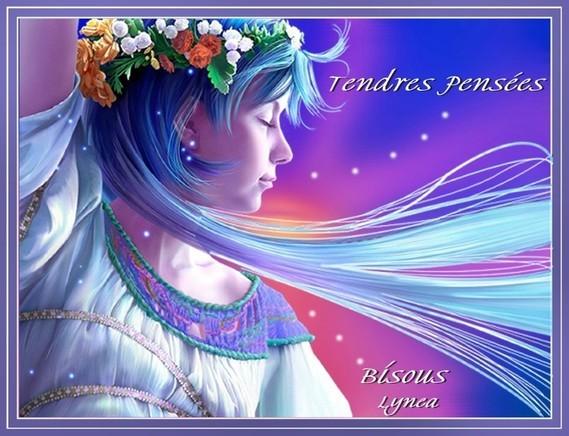 Tendres pensées-Bisous doux de Lynea