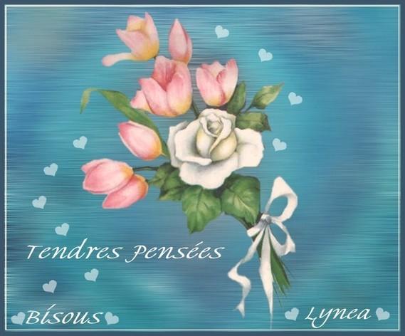 Tendres pensées- bisous de Lynea