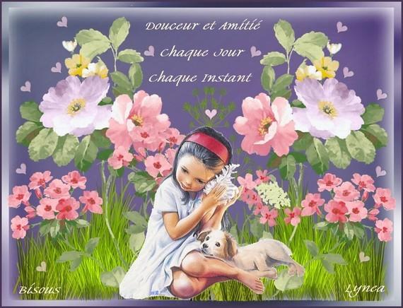 Douceur et amitié chaque jour-chaque instant-Bisous de Lynea
