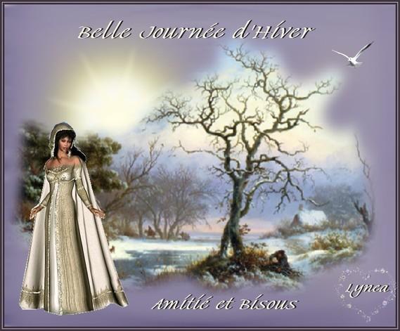 Belle Journée d'Hiver-Amitié et Bisous de Lynea
