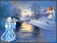 Bon mois de Décembre-Bisous Amitié de Lynea