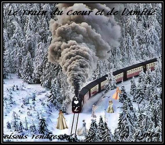 Le Train du coeur et de l'Amitié-Bisous tendresse de Lynea