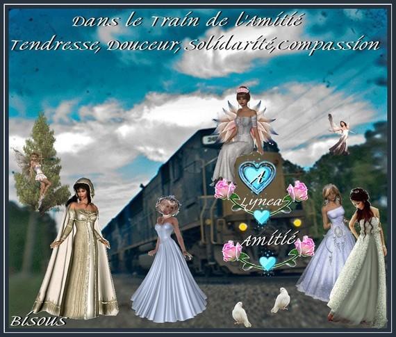 Train de Lynea -l'Amitié- Tendresse etc---bisous