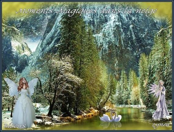 Moments magiques dans la neige-bisous de Lynea