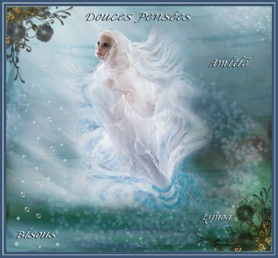 Douces pensées-Bisous-Amitié de Lynea