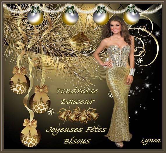 Joyeuses fêtes-tendresse bisous de LYNEA