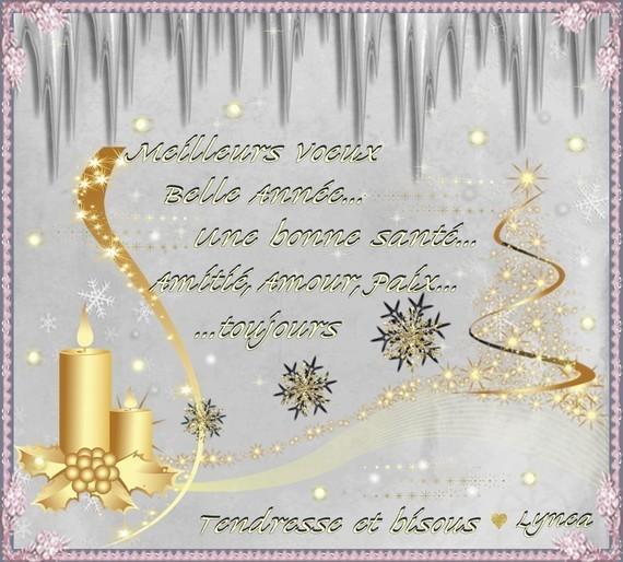 Meilleurs Voeux---belle année, bonne santé, amitié, amour et paix---bisous de Lynea