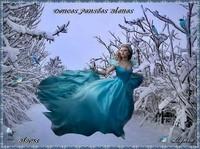 Douces pensées bleues-bisous de Lynea