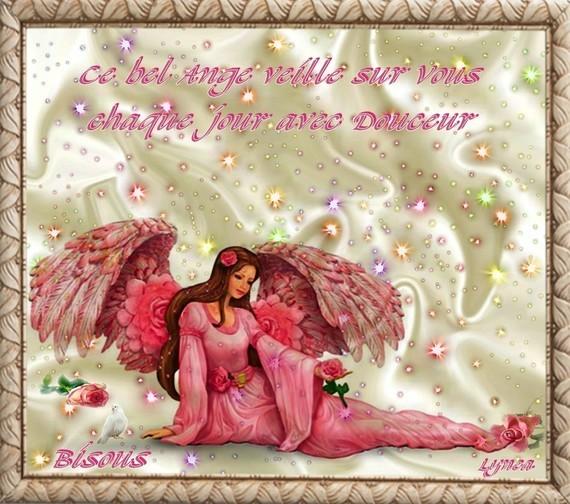 ange veille sur vous---bisous de Lynea
