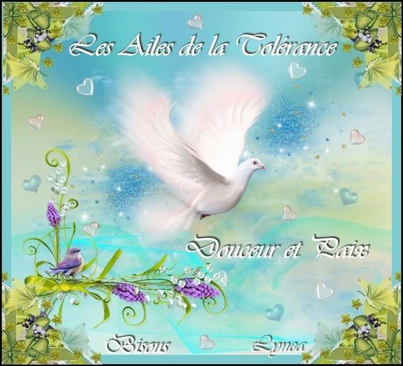 Les ailes de la Tolérance-Douceur et paix-Bisous de Lynea
