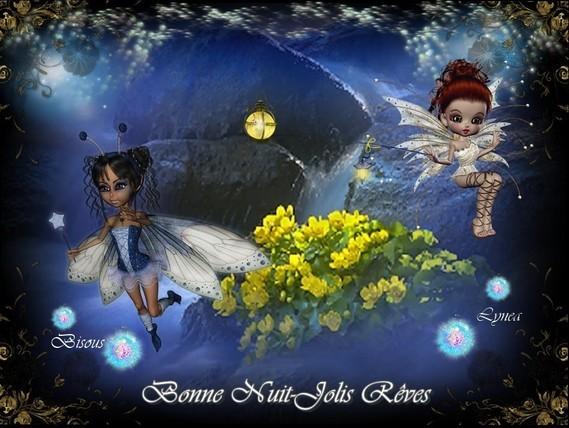 Bonne nuit-Jolis Rêves-Bisous de Lynea-