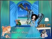 Bonjour-Amitié et bisous de Lynea