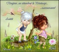 Bonjour-en attendant le printemps---amusons nous-bisous de Lynea