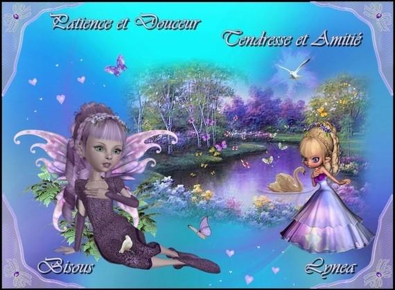 Patience et Douceur-tendresse et Amitié-Bisous de Lynea