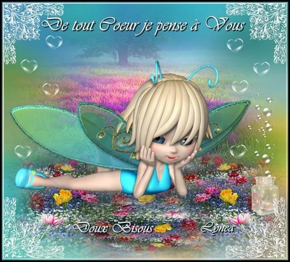 De tout coeur je pense à Vous-Bisous doux de Lynea