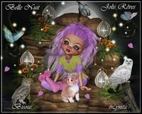 Belle Nuit-Jolis Rêves-Bisous de Lynea