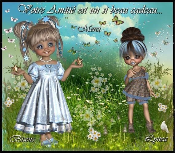 Votre Amitié est un si beau cadeau---merci-bisous de Lynea