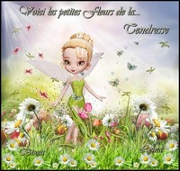 fleurs de la tendresse bisous de Lynea