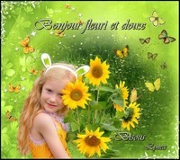 Bonjour fleuri et doux bisous de Lynea