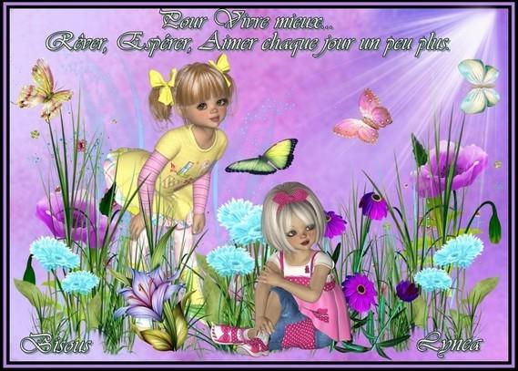 Vivre mieux---espérer rêver aimer chaque jour plus bisous de Lynea
