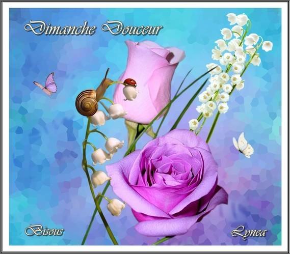 Dimanche Douceur bisous de Lynea rose muguet