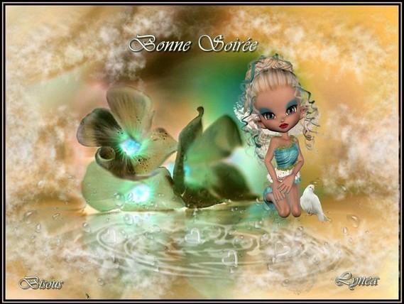 Bonne soirée bisous de Lynea fleurs fée