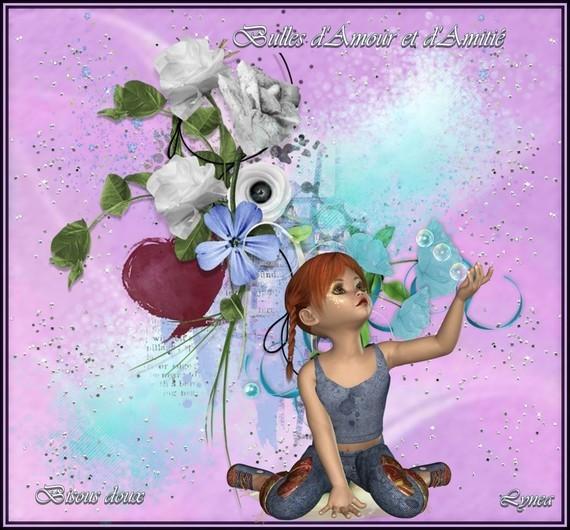 Bulles d'amour et d'amitié bisous de Lynea