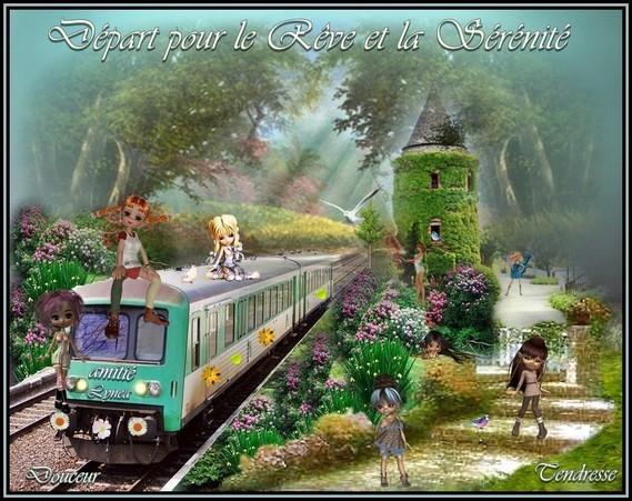 Départ pour le Rêve et la Sérénité Le Train de L'Amitié Lynea