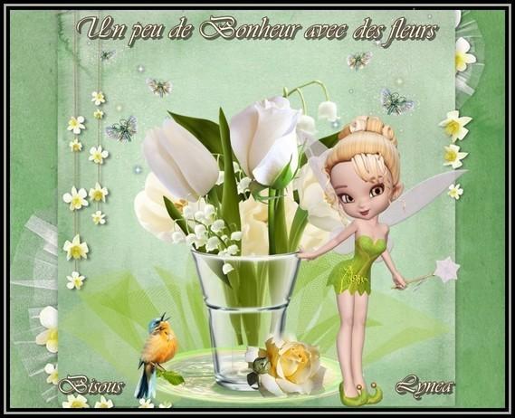 Un peu de bonheur avec des fleurs bisous de Lynea