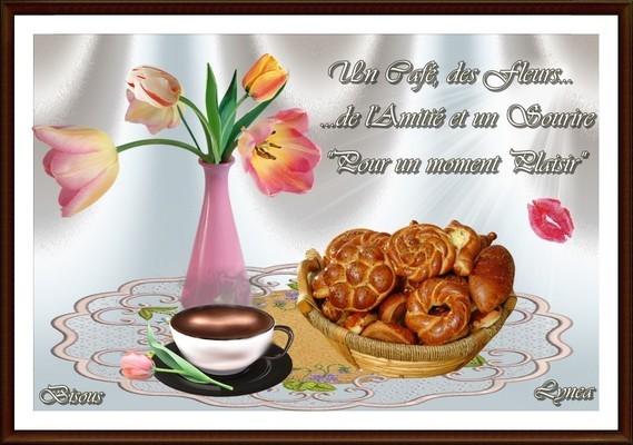 café fleurs sourire pour moment plaisir