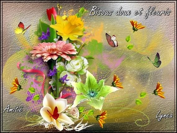 Bisous doux et fleuris amitié de Lynea
