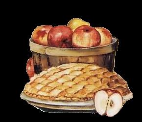 gateau et fruits