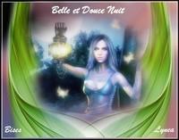 Belle et douce nuit bises de Lynea