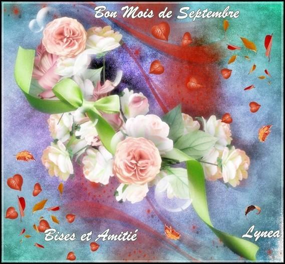 Bon mois de septembre bisous et amitié de Lynea