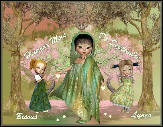Heureux mois de septembre bisous de Lynea