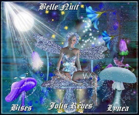 Belle nuit jolis rêves bises de Lynea