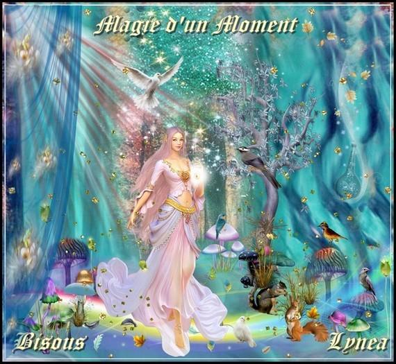 Magie d'un moment bisous de Lynea
